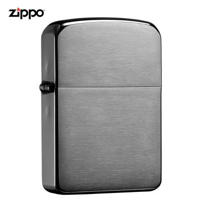 zippo芝寶打火機原裝ZIPPO之寶煤油打火機拉絲黑冰24096-043431