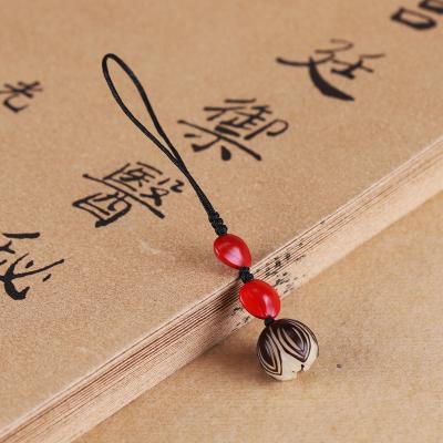 原創手工編繩菩提手機掛件U盤掛飾 相思豆飾品情侶男女禮物