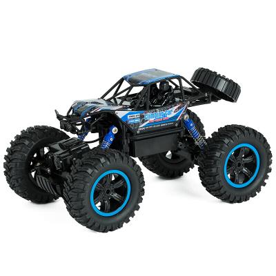 美致模型(MZ) 遥控车 1:14大脚攀爬车 四驱大脚越野汽车 充电车模型儿童男孩玩具 亮蓝色 (双电版)2838S