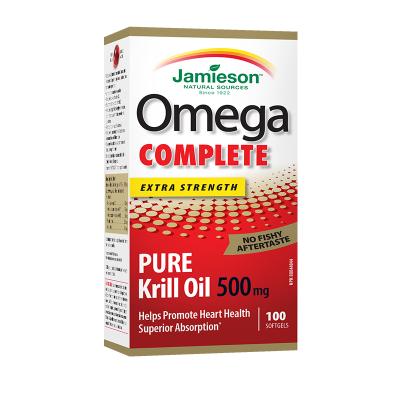 健美生磷蝦油軟膠囊 100粒 類胡蘿卜素含Omega-3 磷脂 蝦青素三高人群中老年