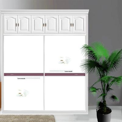 衣柜CIAA定做衣櫥推拉壁柜簡約滑動3定制鋼化玻璃衣柜移 12