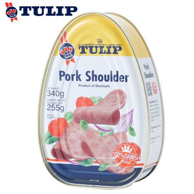 TULIP丹麥進口郁金香豬肩肉罐頭(豬肉罐頭)340g×2罐 早餐三明治火鍋配菜68457