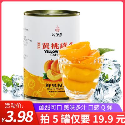 匯爾康 糖水果汁黃桃罐頭 425gx1罐整箱 水果罐頭對開 休閑零食