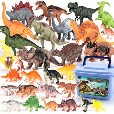 育儿宝仿真动物玩具模型套装小孩模型世界霸王龙男孩儿童恐龙塑胶