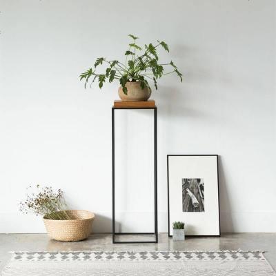 北欧客厅花架铁艺实木简约欧式室内绿萝阳台落地复古美式花架花几