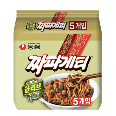 農心韓國進口韓式炸醬面140gx5袋雜醬面方便面整袋裝 非火雞面