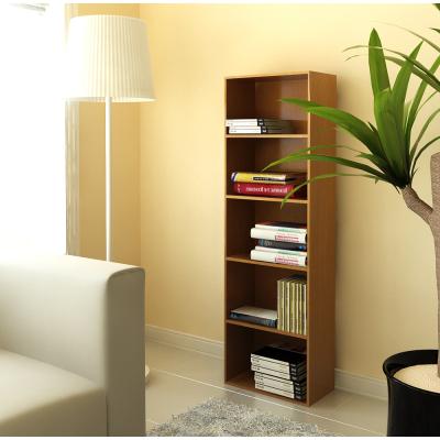 慧乐家 书柜书架 鲁比克五层组合书柜 杂物收纳柜 深红樱桃木色 FNAL-11055