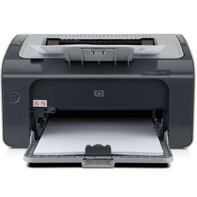 惠普(HP)LaserJet Pro P1106 黑白激光打印機 學生打印作業打印
