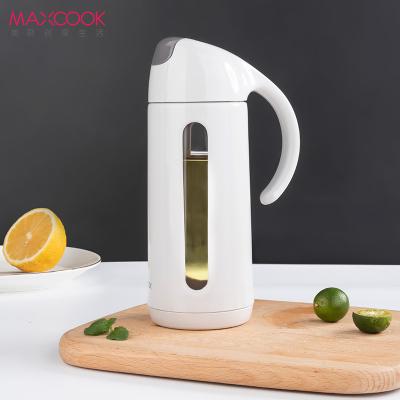 美廚(maxcook)自動開合油壺油漏 320ML防漏調料瓶醬 玻璃油醋瓶 MCPJ383