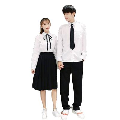 畢業班服學院風夏季套裝網紅校服女學院風韓國初中高中學生裝裙子 威珺