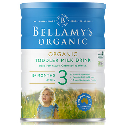 【含GOS】貝拉米(Bellamy's) 幼兒配方奶粉 3段 (1-3歲) 900g/罐