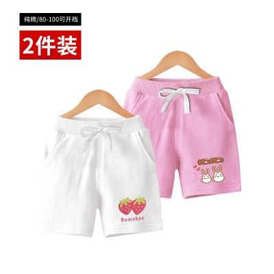 女童短裤夏装婴儿童运动休闲裤子外穿小童宝宝五分中裤洋气潮