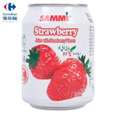 【家乐福】三蜜(SAMMI)草莓味饮料238毫升