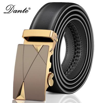 Dante丹迪品牌时尚皮带男士自动扣腰带正品商务潮牛皮裤带