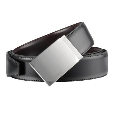 Calvin Klein 卡爾文·克萊恩 男士黑色系針扣式CK皮帶腰帶