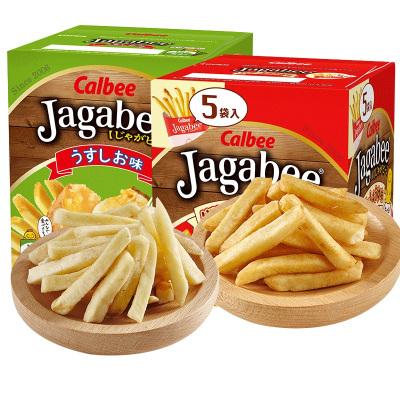 卡樂比薯條三兄弟80g盒日本進口零食咸味醬油味網紅薯片土豆條