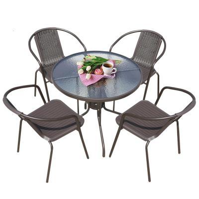 藤椅靠背椅單人小椅子家用陽臺休閑椅庭院外擺桌椅編織戶外騰椅