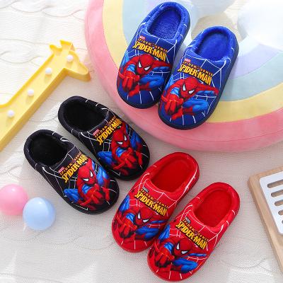 儿童棉拖鞋中大童冬季卡通防滑厚底保暖小孩居家成人室内拖鞋男潮