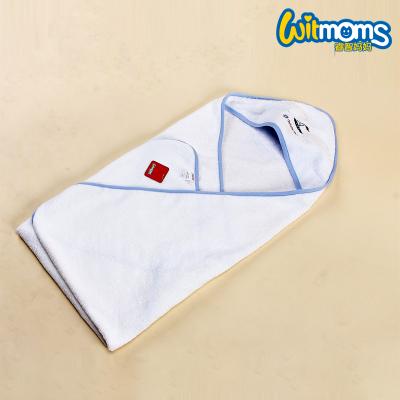 睿智媽媽(witmoms)寶寶浴巾 新生嬰兒幼兒童斗篷全純棉毛巾抱毯洗澡巾100cm*100cm