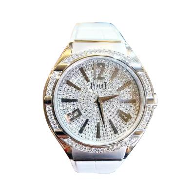 【正品二手99新】伯爵 Piaget POLO系列 18k白金 镶钻 满天星 石英 机芯 女士腕表 G0A38014