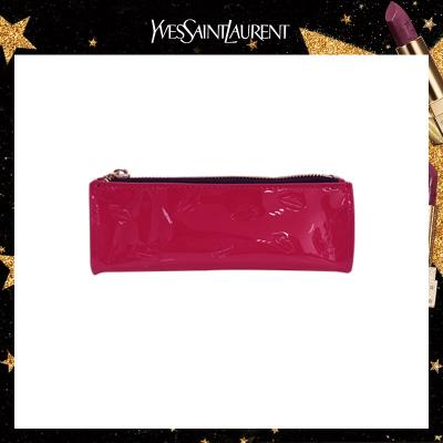 圣羅蘭(YSL) 唇印紅色漆皮化妝包