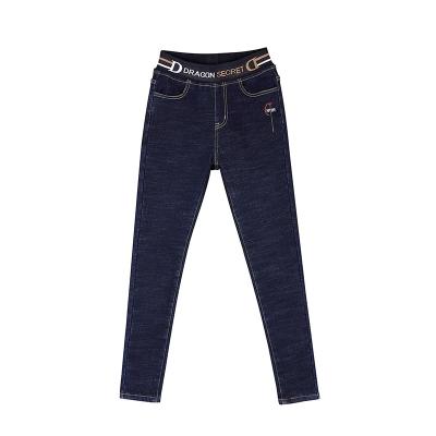 墨尔斯特(MO ER SI TE)2020冬季新款加绒黑色牛仔裤女修身弹力显瘦小脚长裤百搭2905