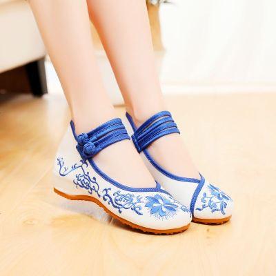 儿童绣花鞋中国风老北京布鞋女童汉服鞋民族风古装亲子舞蹈表演鞋