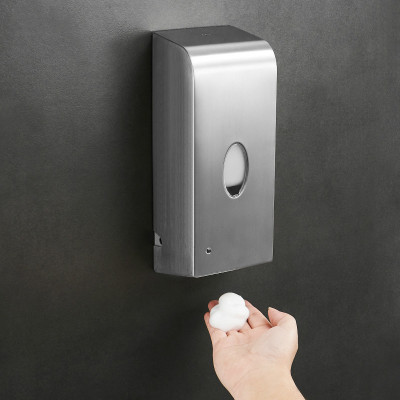 不锈钢挂壁式自动皂液机 皂液器 感应泡沫洗手机