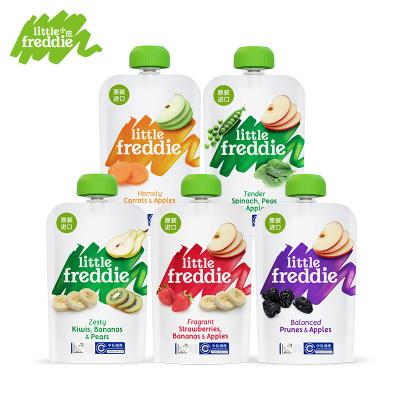 Little Freddie小皮 歐洲原裝進口5種口味繽紛水果泥100g*5袋 6個月以上