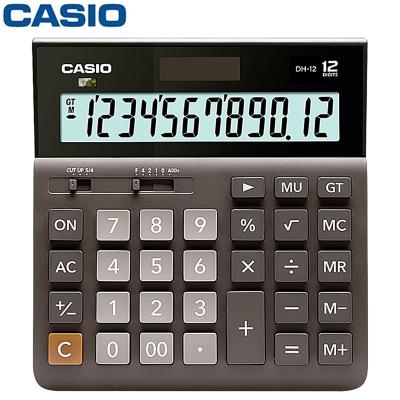 卡西歐(Casio)DH-12-BK計算器 計算機 超寬計算機 辦公計算器 商務計算機 雙電源計算機
