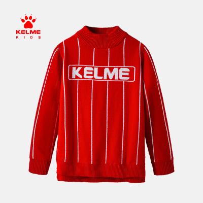 kelme(kids)女童毛衣2020新款春季兒童上衣連帽針織衫洋氣女童