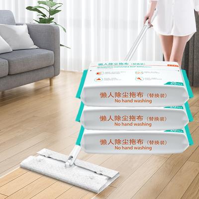 靜電除塵紙一次性拖巾拖地濕巾吸塵紙家用擦地拖布-120*26*11CM/共60片