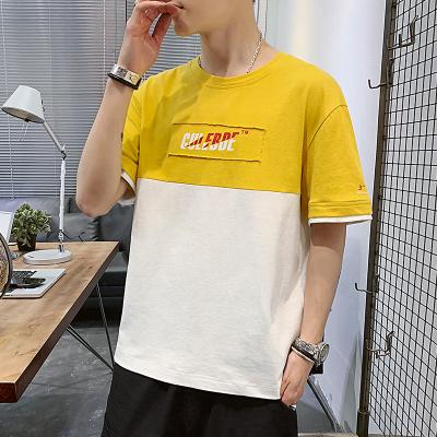 白渠純棉t恤男士夏季短袖2020新款ins潮流純色體恤上衣服寬松潮牌男裝JC.T204