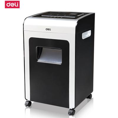 得力deli9913离子净碎纸机大功率 碎纸能力强 有离子发生器自动退纸