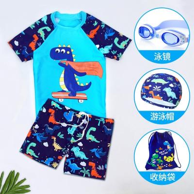 兒童泳衣男童小中大童分體卡通游泳衣寶寶嬰幼兒小孩防曬泳褲套裝