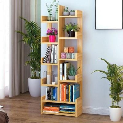 樹形書架落地簡約桌上書柜置物架簡易學生用創意收納小書架省空間