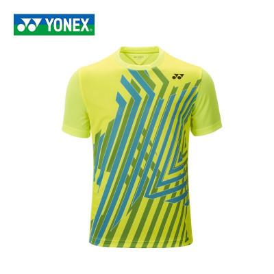 尤尼克斯(YONEX)羽毛球服球服上裝男款T恤110527BCR女T恤210527BCR亮黃色聚酯纖維夏季短袖