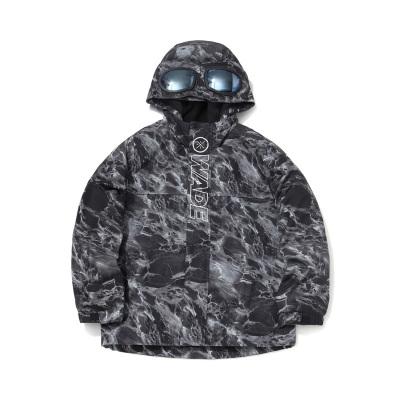李寧童裝風衣男大童2020新款韋德籃球系列開衫長袖連帽青少年秋季梭織童裝