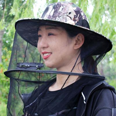 戶外防蚊帽子男士遮臉防曬釣魚帽夜釣透氣網紗面罩養蜂防蟲防蜂帽透氣釣魚帽