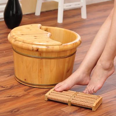 保溫足浴泡腳桶洗腳盆過小腿木質木桶家用泡腳古達泡腳盆木盆實木