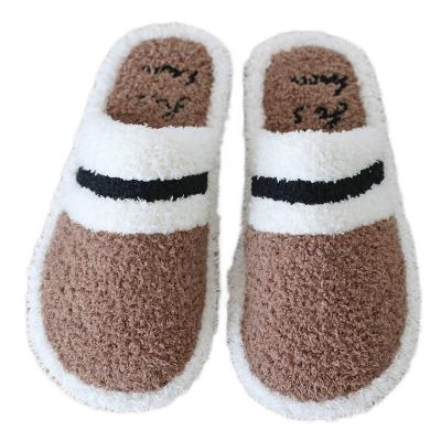 冬季情侶棉拖鞋女士甜美韓版居家室學生宿舍內保暖毛毛拖防滑男士拖鞋 TCVV
