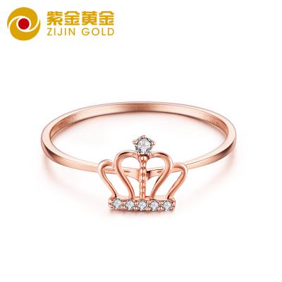 紫金黃金(ZiJin)18K黃金首飾套裝玫瑰金手鏈彩金項鏈耳釘K金鉆戒求婚訂婚女士定價