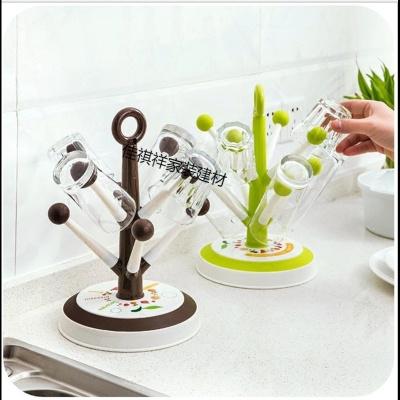 玻璃杯沥水架水杯架杯架家用挂架杯子创意茶杯架子置物塑料放的架