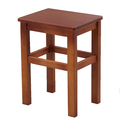 大華T-01603 全實木方凳 校園學生課桌椅子坐凳椅實木方凳員講臺閱讀員工宿舍桌椅凳環保漆藝北歐現代簡約 橡木定制款