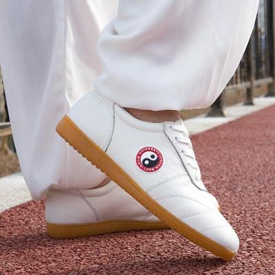 真皮太極鞋春夏軟牛皮牛筋底男女武術鞋太極拳鞋練功鞋太極運動鞋