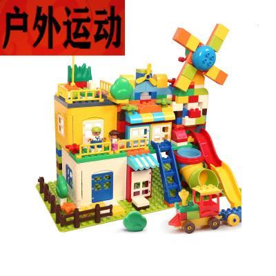 蘇寧好店積木拼裝玩具兒童大顆粒男孩女孩寶寶幼兒智力開發1-2歲35966新款