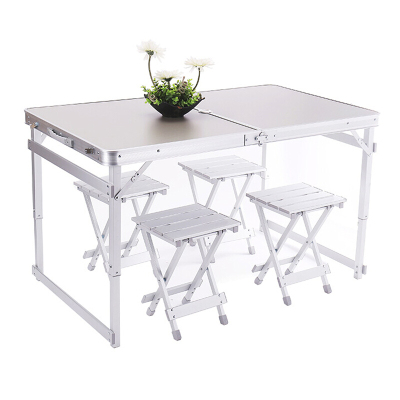 歐寶美戶外宣傳廣告折疊 活動 車載 便攜式野外休閑連體折疊桌