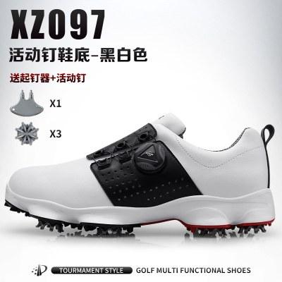 高尔夫球鞋 男士防水鞋子 旋转鞋带运动鞋活动钉鞋