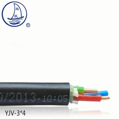 帮客材配 电动汽车充电桩安装电缆ZB-YJV-3*6mm2*500米 14.6元/米