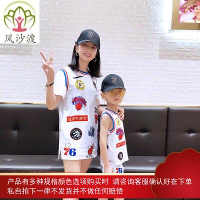 不一样的亲子装夏装潮母子母女装时尚网红洋气黑米妈童装图片件数为展示